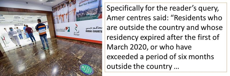 Rule applies to those outside the UAE for more than six months