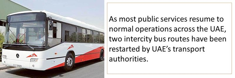 Two intercity bus routes have been restarted