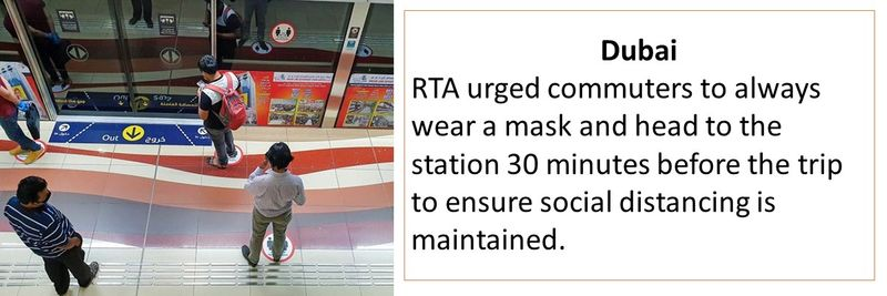 always wear a mask and head to the station 30 minutes before the trip