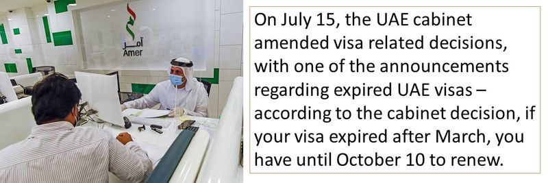 if your visa expired after March, you have until October 10 to renew