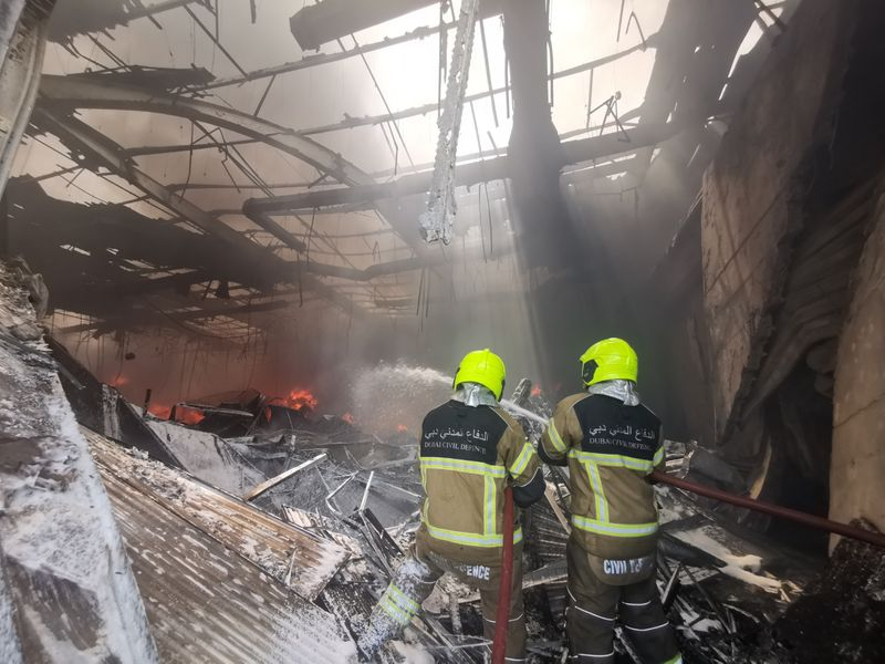 Images from the fire in the warehouse in Jebel Ali