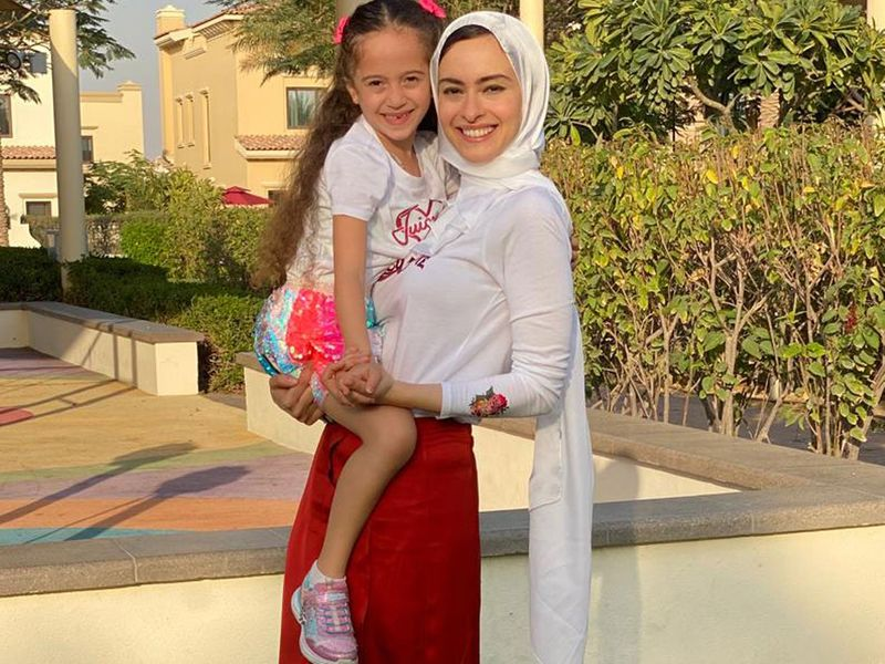 Rana Behairy and daughter