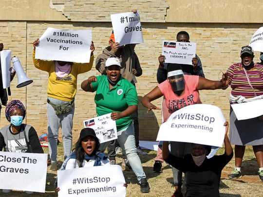 South Africa protest covid vaccine