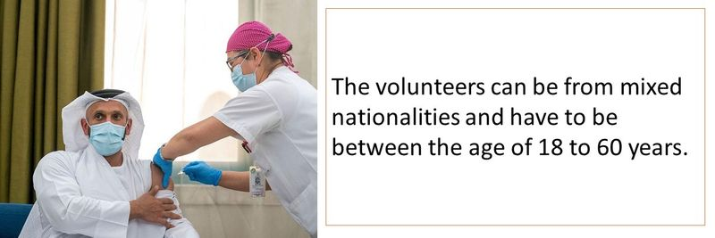 The volunteers can be from mixed nationalities and have to be between the age of 18 to 60 years.