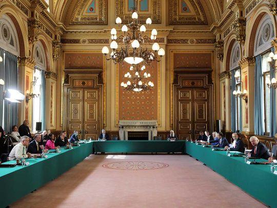UK cabinet meeting London