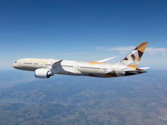 Stock Etihad Airways Boeing 787-9 Dreamliner