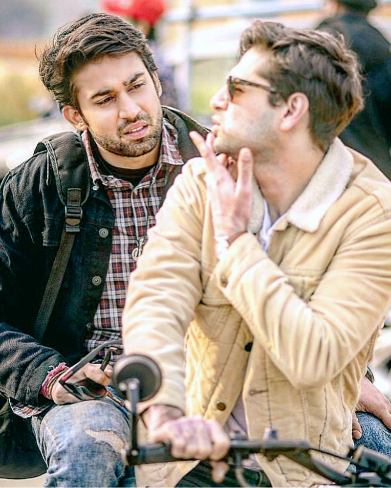 Bilal Abbas Khan and Raza Talish in a still from ABDULLAHPUR KA DEVDAS-1595406648658