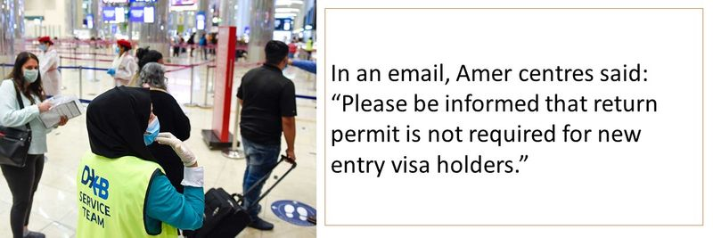 return permit is not required for new entry visa holders