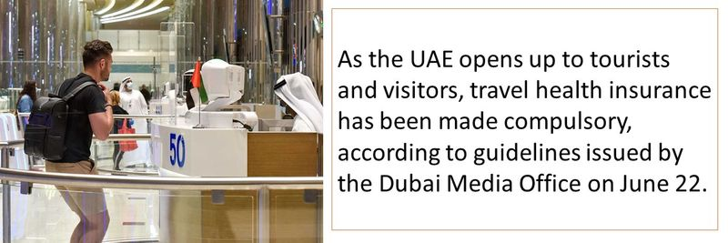 travel health insurance has been made compulsory for UAE tourists and visitors
