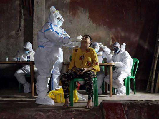 India Kolkata healthcare worker swab