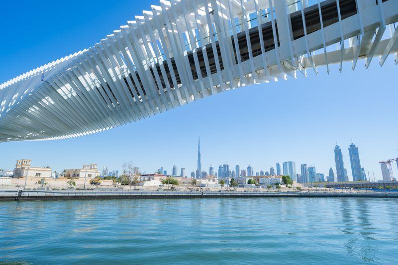 Twisted Bridge over Dubai Canal