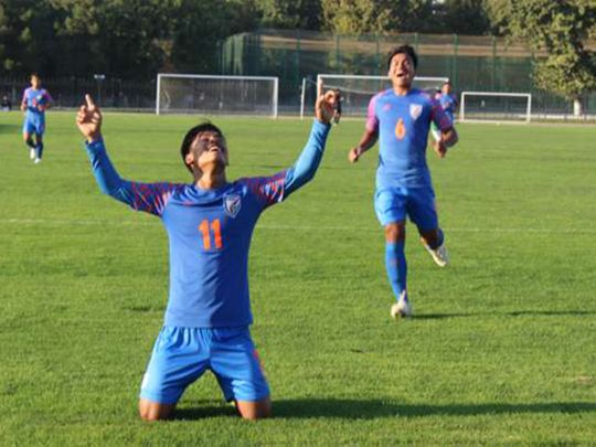India U16 swept Turkmenistan 5-0 in qualifying