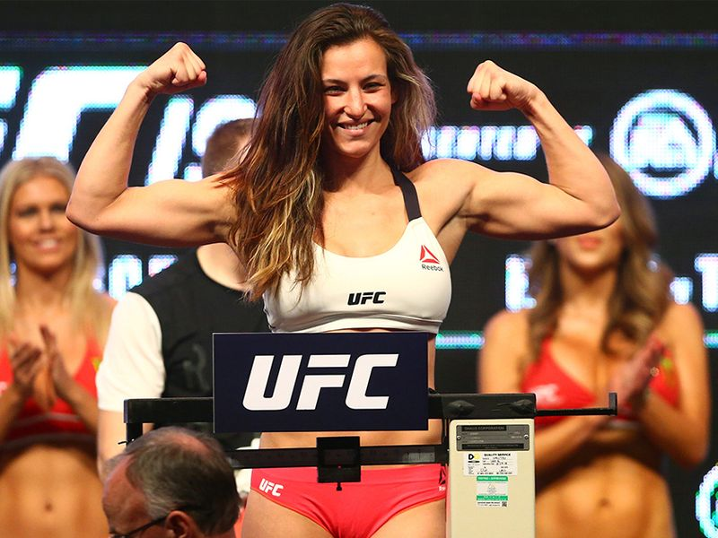 2. Miesha Tate: A former UFC bantamweight champion, Tate has modelled for numerous websites and publications, including ESPN The Magazine and Fitness Gurls. In 2015, Tate was announced as a cast member in the feature film Fight Valley. After her retirement, Tate has become the vice-president for ONE Championship and currently lives in Singapore with her partner, fellow MMA fighter Johnny Nunez.