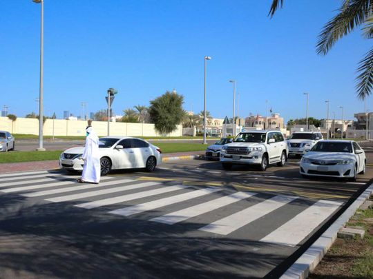 Abu Dhabi road crossing