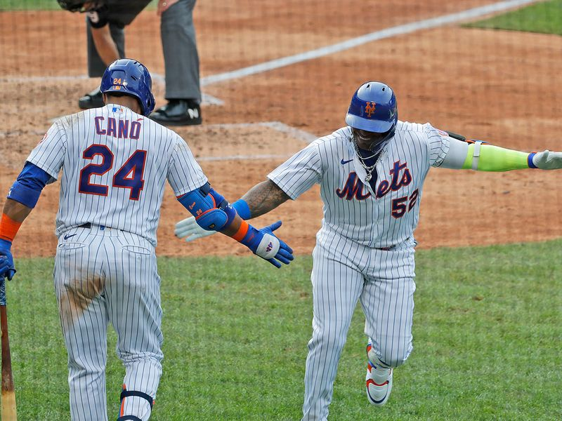Mets 1, Braves 0 Yoenis Cespedes, appearing in his first game in 734 days, hit a home run in the seventh inning to snap a scoreless tie and lift host New York over Atlanta.