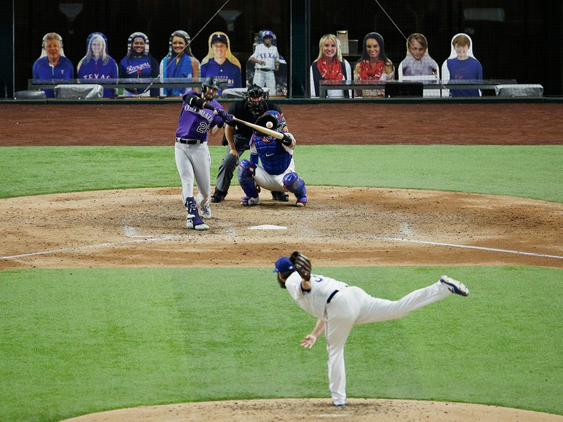 Rangers 1, Rockies 0 Lance Lynn tied a franchise record with nine strikeouts by an Opening Day starter