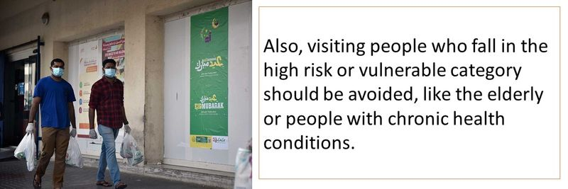 Avoid meeting relatives who are in the high risk category