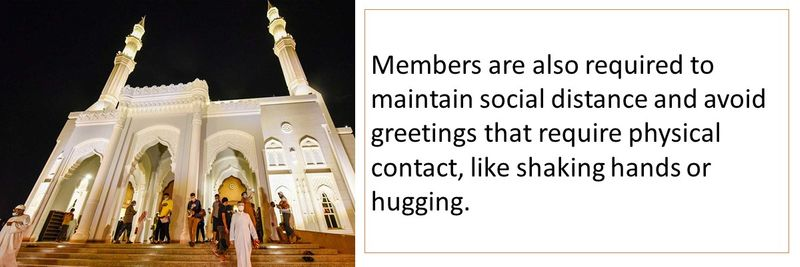 Avoid physical greetings