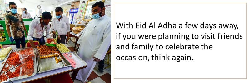 If you were planning to visit friends and family to celebrate the occasion, think again