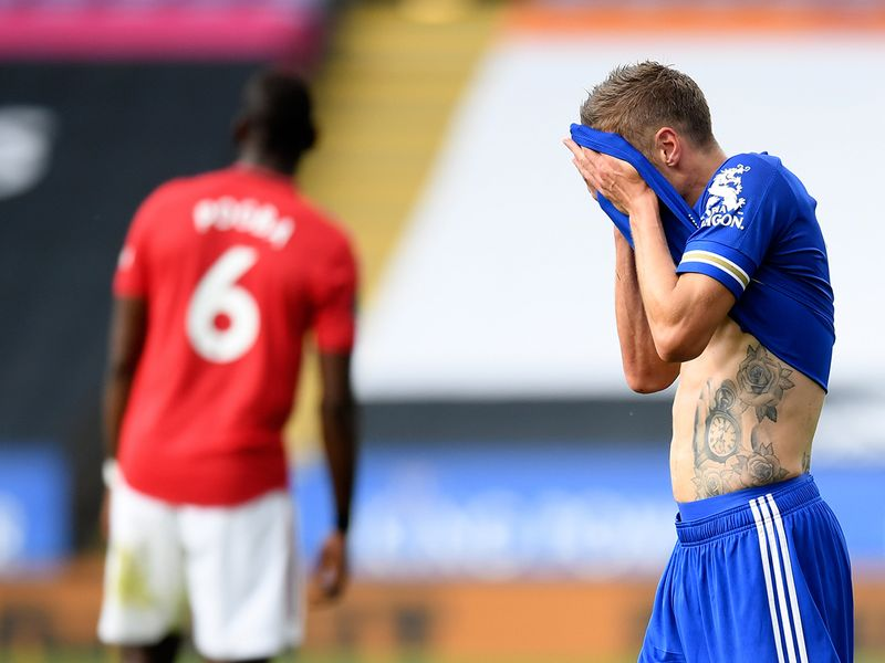 Leicester lost to Manchester United on the final day