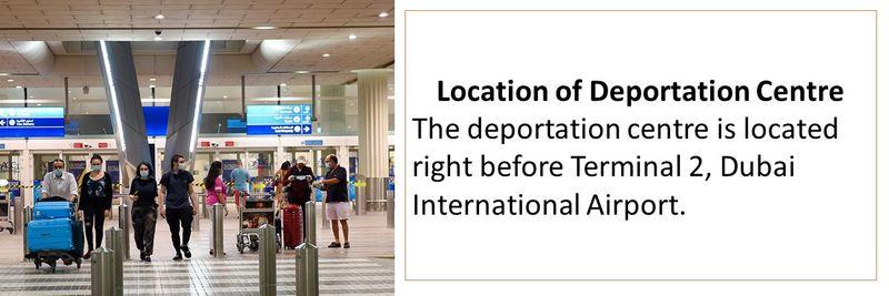 Location of Deportation Centre near Terminal 2 Dubai Airport