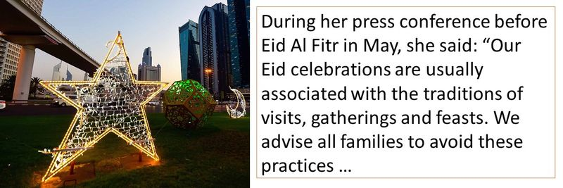 Normally, Eid celebrations involve a lot of family gatherings
