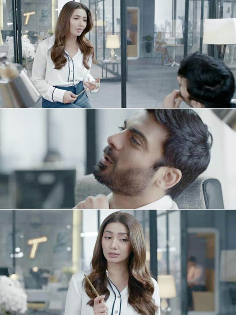 TAB screengrab Mahira Khan and Fawad Khan's latest TVC-1595836931995