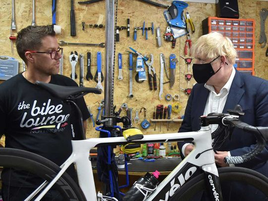 Boris Johnson cycle London