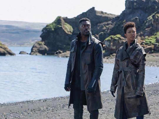 Sonequa Martin-Green and David Ajala in season three of 'Star Trek Discovery'-1595917555586
