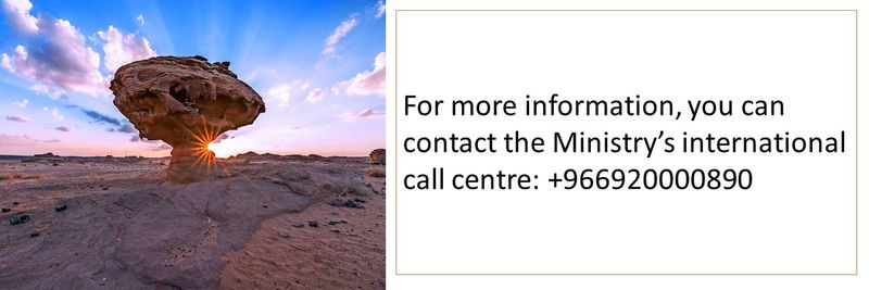 For more information, you can contact the Ministry's international call centre: +966920000890