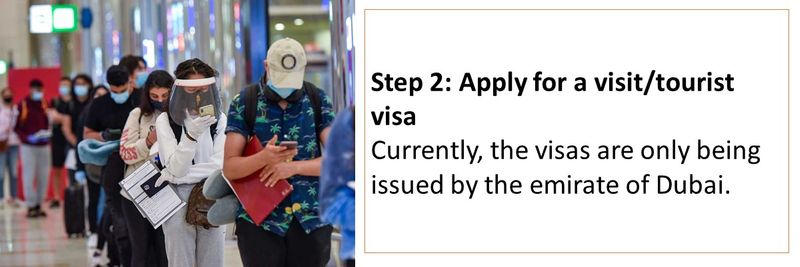 Step 2: Apply for a visit/tourist visa