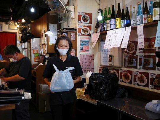 Take-away lunch Hong Kong restaurant coronavirus