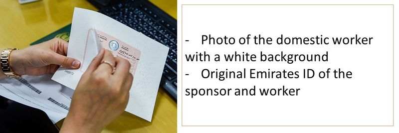 - Photo of the domestic worker with a white background -Original Emirates ID