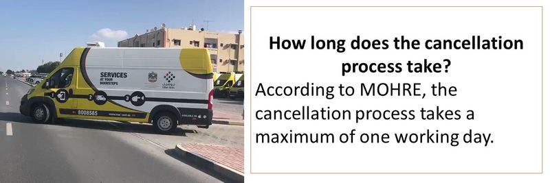 How long does the cancellation process take?