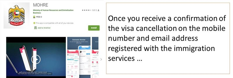 Once you receive a confirmation of the visa cancellation on the mobile number and email address registered with the immigration services …
