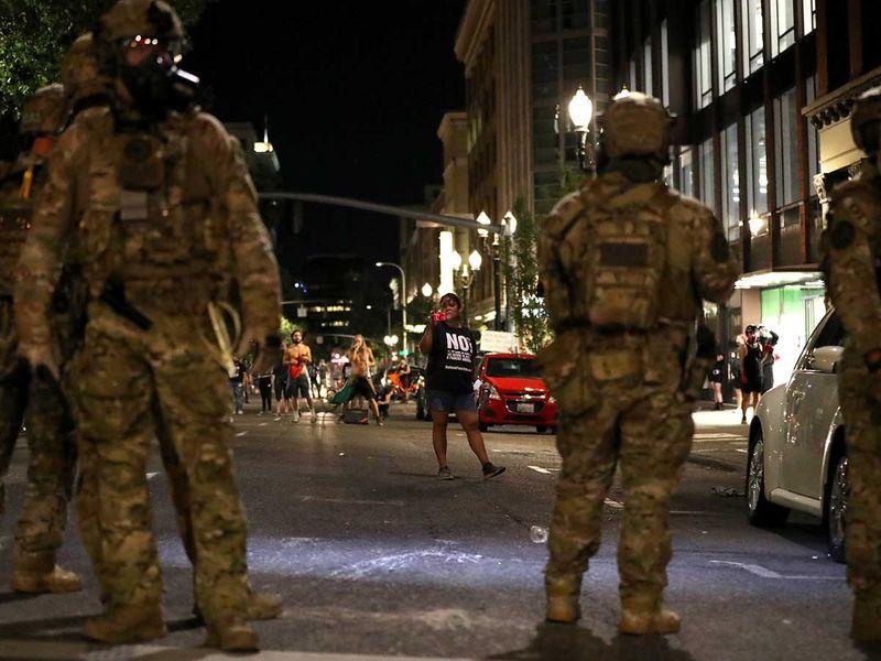 Portland protests federal agents US