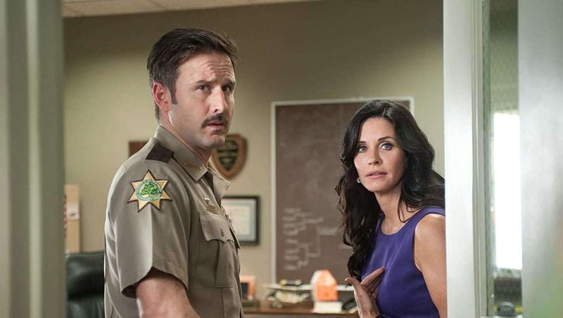 David Arquette and Courteney Cox in Scream
