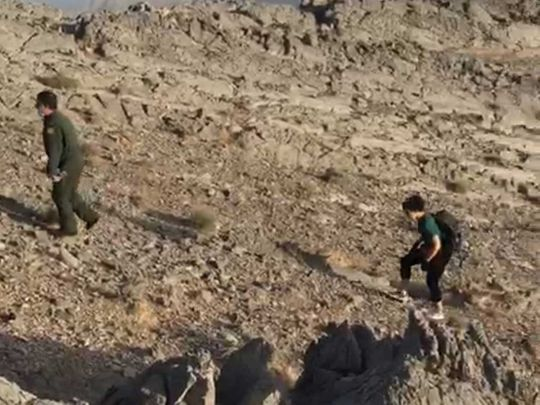 Tourist rescued from Ghaleila Mountain in Ras Al Khaimah