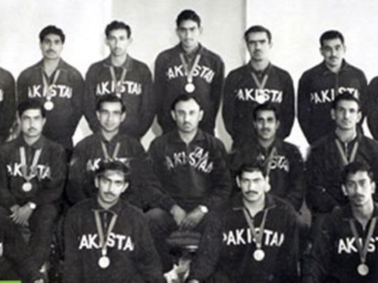 The Mexico 1968 gold medal-winning Pakistan hockey team