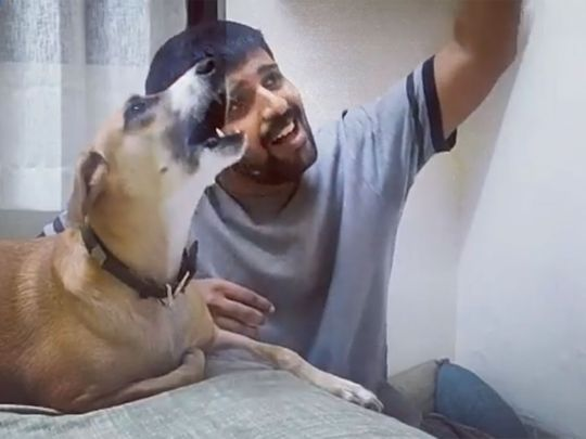 Mumbai-based comedian-writer Rohit Nair posted a video singing with his adopted dog Zoe