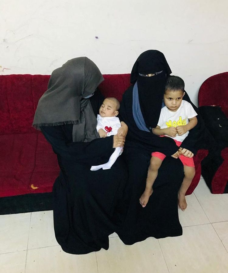 NAT Mubshira and baby Ahmed with Jumana and her youngest son-1596353257139