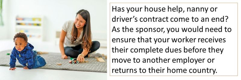 Has your house help, nanny or driver's contract come to an end?