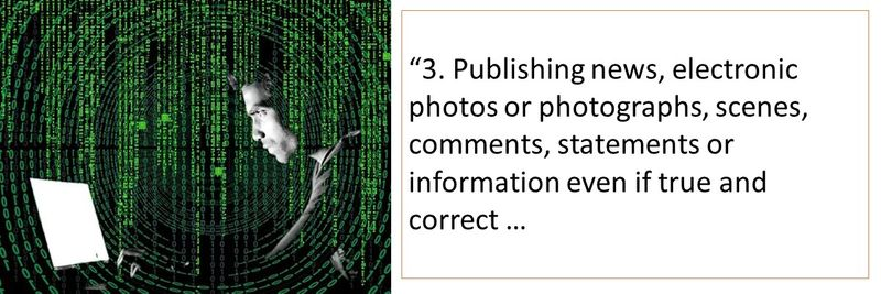 Publishing information even if true and correct is punishable depending on the judgement