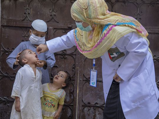 UAE polio vaccination in PAK