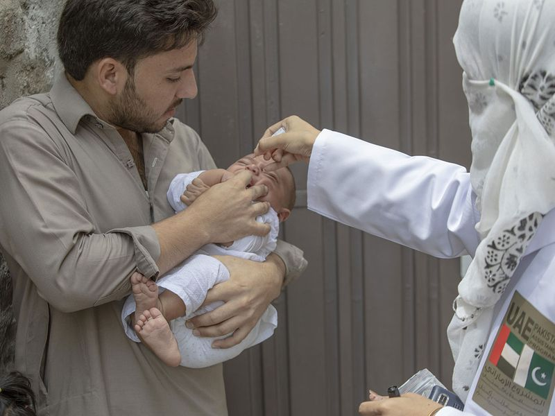 UAE polio vaccination in PAK