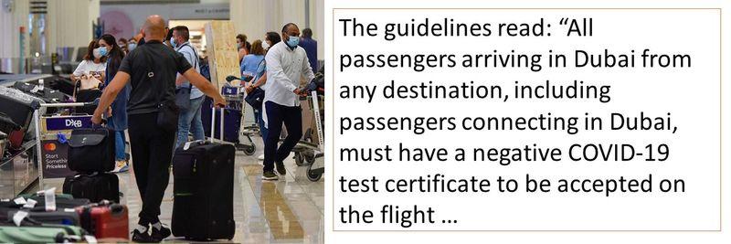 COVID-19 test is mandatory