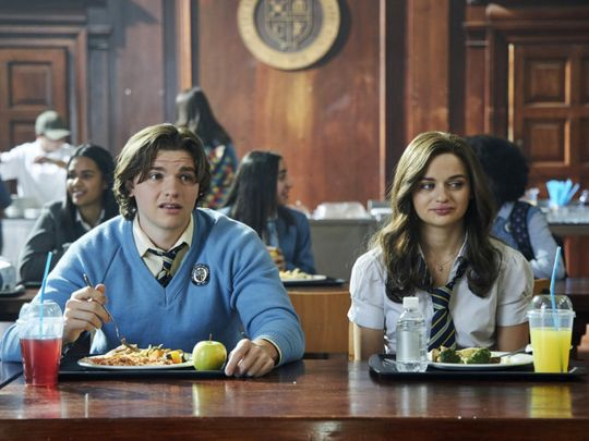 Joel Courtney and Joey King in Kissing Booth 2-1596544104462