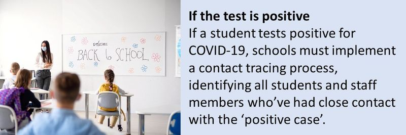 What happens when child shows Covid-19 symptoms while at school in the UAE?