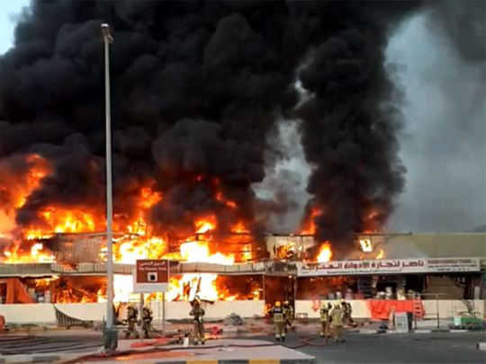 Ajman market fire, Ajman fire