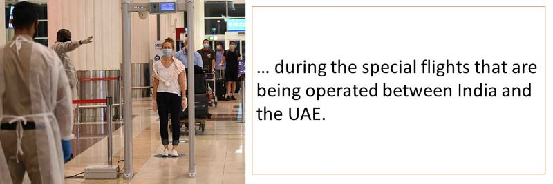 Guidelines for the special flights between India and UAE